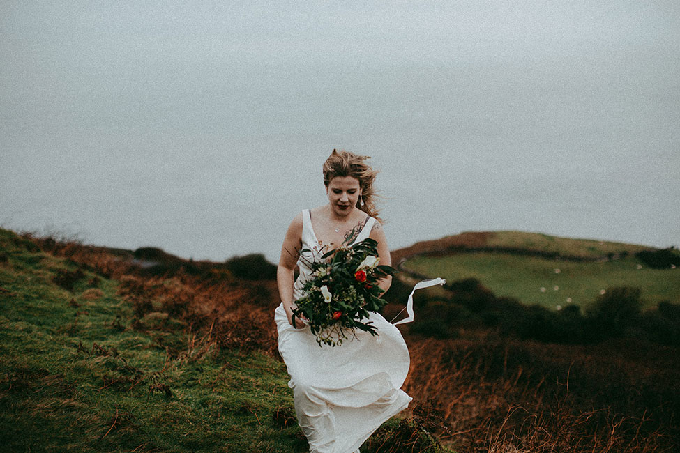 North Wales Great Orme Stormy Wintry UK Wedding | Photograph by Avonné Photography  See the full story at https://storyboardwedding.com/north-wales-great-orme-wintry-uk-wedding