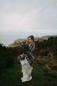North Wales Great Orme Stormy Wintry UK Wedding