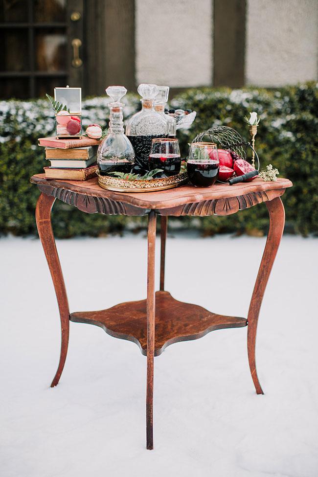Carriage House Romeo + Juliet Inspired Romantic Winter Wedding   Photograph by Kuirsta + Seth LLC