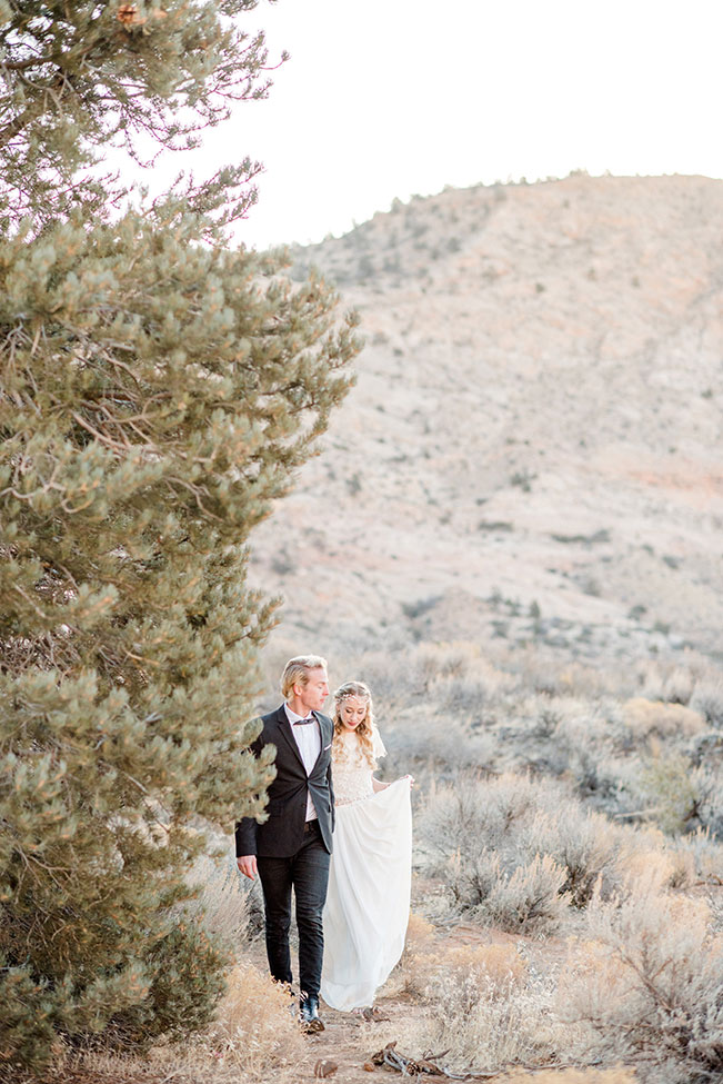 Snow Canyon Park Sunrise Utah Elopement | Photograph by Imiloalife Photography  See the full feature at https://storyboardwedding.com/snow-canyon-park-sunrise-utah-elopement/