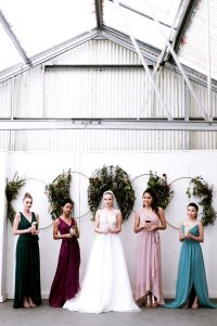 Modern Celestial Wedding Inspired By Davids Bridal Jewel Tone Bridesma...