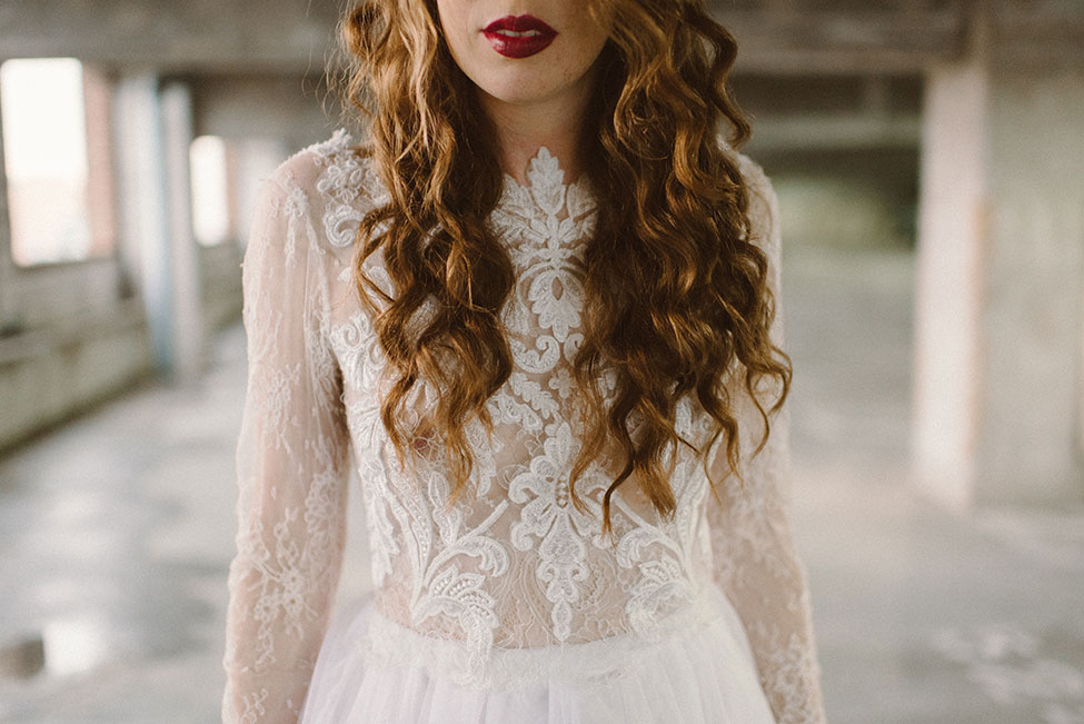 Edgy Bohemian Bride Style In Unique Locale