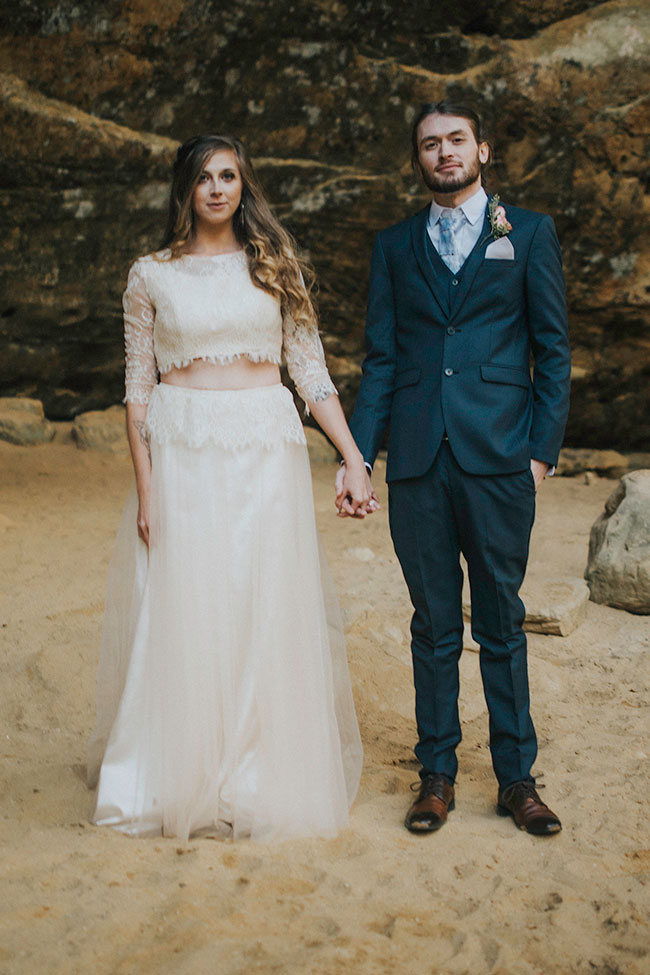 Folksy Indie Woodland Wedding With A Boho Spirit | Photograph by Cate Ann Photography