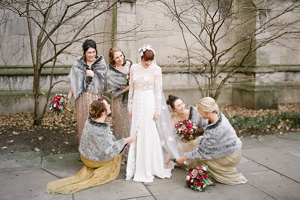 Sophisticated Vintage Chicago Wedding at University of Chicago
