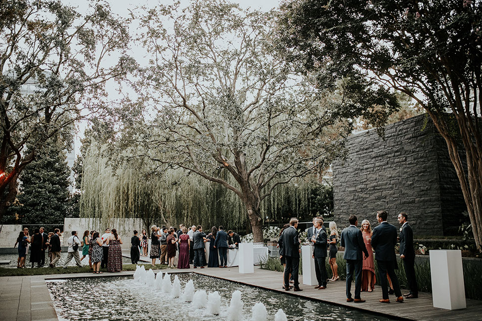 Gorgeously Romantic Dallas Wedding At Nasher Sculpture Center | Photograph by Ashley Rhian