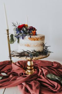Burgundy & Blues Inspired Romantic Loft Wedding