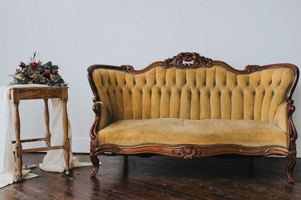 Burgundy & Blues Inspired Romantic Loft Wedding