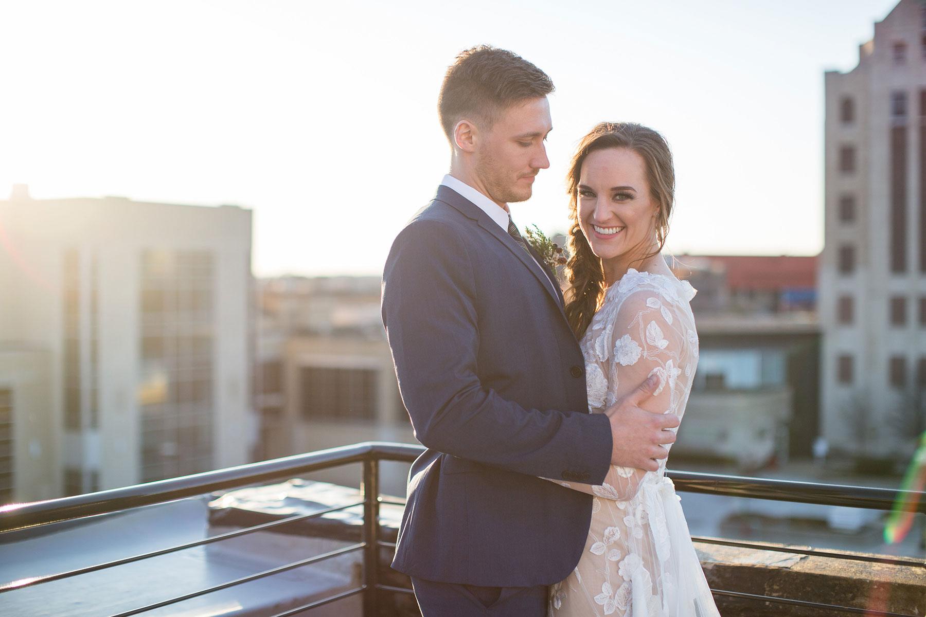 Romantic Luxe Conservatory Wedding Set In Downtown Airy Loft Space | Photography: ellAdele Photography