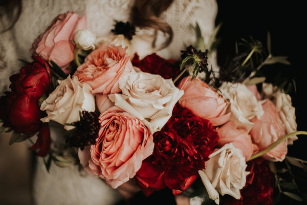 Pink and Red Wedding Bouquets