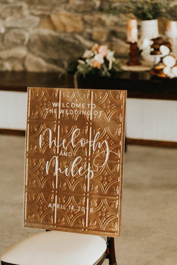 Metallic Wedding Signs
