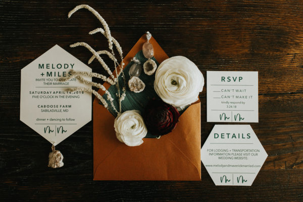 Rust and Teal Wedding Invitations