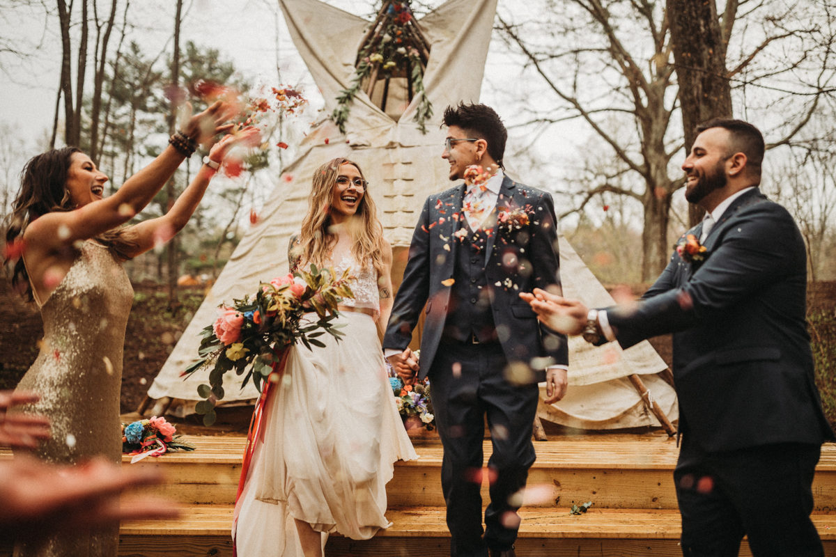 California Boho Meets Connecticut Rustic in This Wedding Inspiration Evermore Imaging36