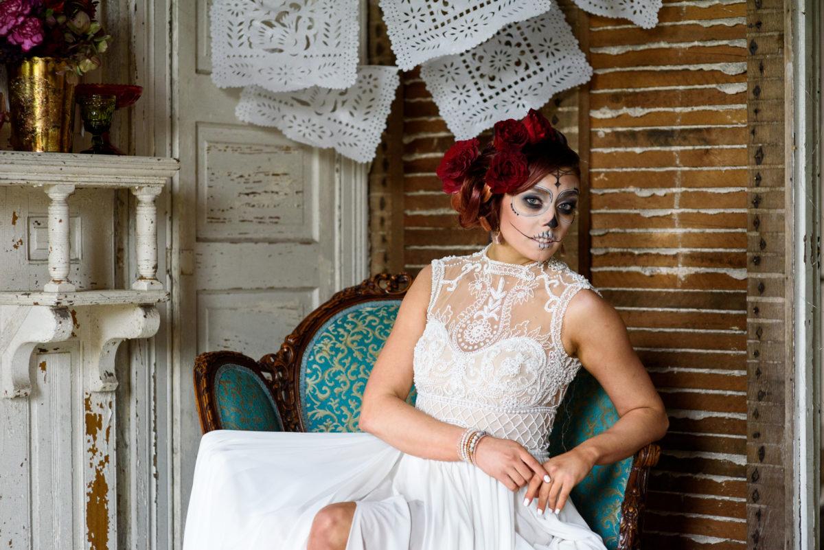 Cultural Day of the Dead Bridal Inspiration Michelle Lynn Weddings27