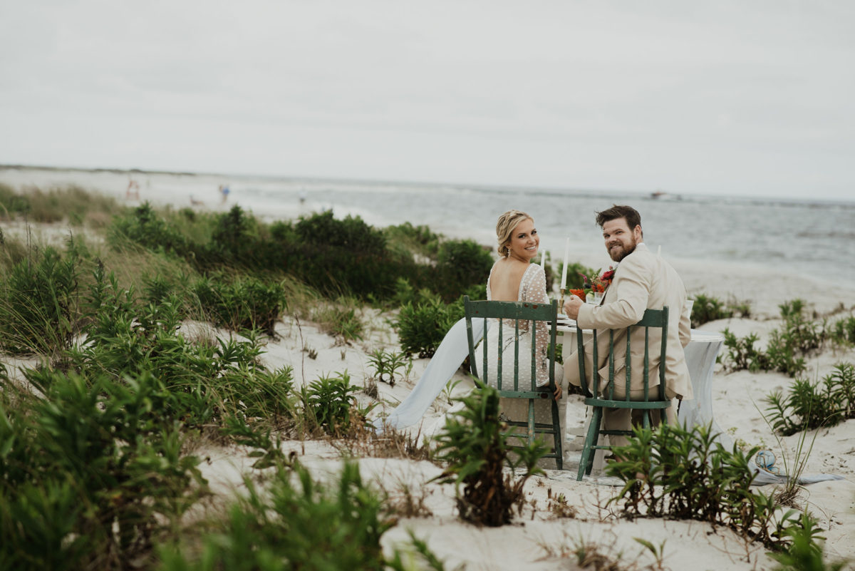 Seaside Elopement Inspiration at New Jersey Dunes Delaney Dobson Photography30