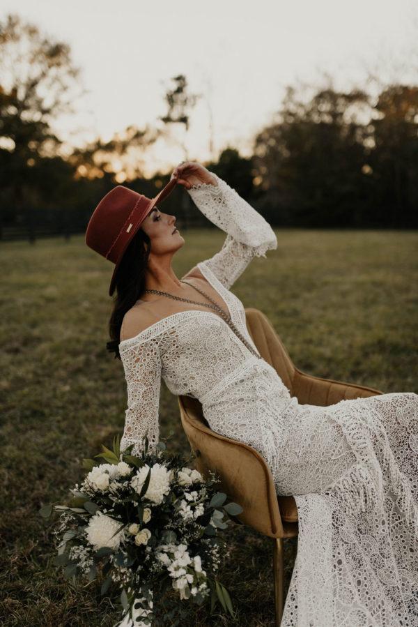 Bohemian Ranchstead Bridal Inspiration Taryn Lynn Photography09