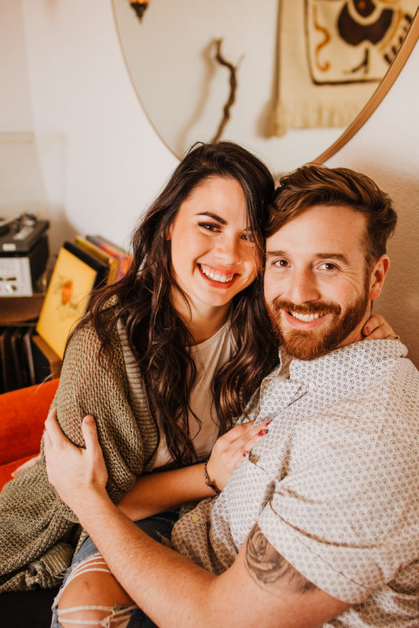 Intimate Musical In-Home Couple's Session Allie Dearie Photography05